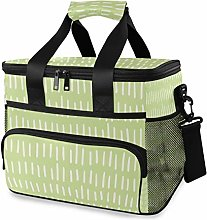 MONTOJ Green Tote Cooler Bag Lunch Bag for Women