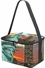 MONTOJ New York Statue of Liberty Insulated Lunch