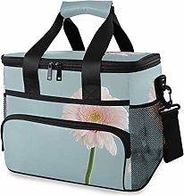 MONTOJ Pink Sunflower Tote Cooler Bag Lunch Bag