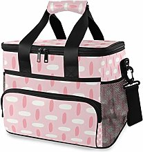 MONTOJ Pink Tote Cooler Bag Lunch Bag for Women