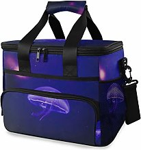 MONTOJ Purple Jellyfish Tote Cooler Bag Lunch Bag