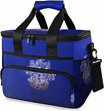 MONTOJ Purple Medusa Tote Cooler Bag Lunch Bag for