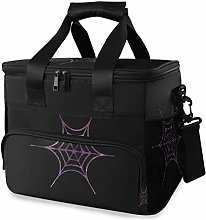 MONTOJ Purple Spider Net Tote Cooler Bag Lunch Bag