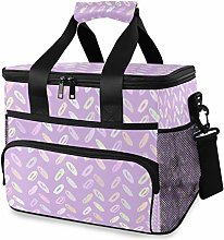 MONTOJ Purple Tote Cooler Bag Lunch Bag for Women