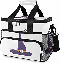 MONTOJ Purple Witch Hat Tote Cooler Bag Lunch Bag