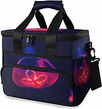 MONTOJ Red Light Jellyfish Tote Cooler Bag Lunch