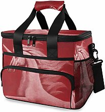 MONTOJ Red Unicorn Horse Tote Cooler Bag Lunch Bag