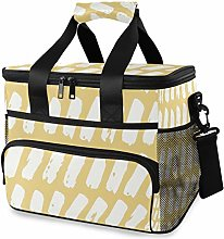 MONTOJ Simple Yellow Tote Cooler Bag Lunch Bag for
