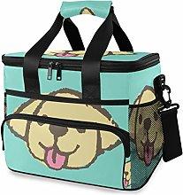 MONTOJ Yellow Dog Tote Cooler Bag Lunch Bag for