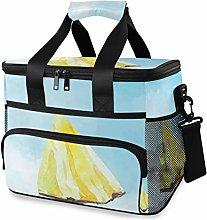 MONTOJ Yellow Fruit Tote Cooler Bag Lunch Bag for