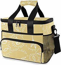 MONTOJ Yellow Grass Tote Cooler Bag Lunch Bag for