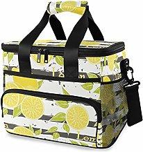 MONTOJ Yellow Lemon Tote Cooler Bag Lunch Bag for
