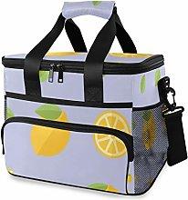 MONTOJ Yellow Lemons Tote Cooler Bag Lunch Bag for