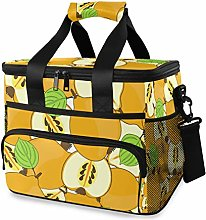 MONTOJ Yellow Pear Tote Cooler Bag Lunch Bag for