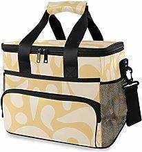 MONTOJ Yellow Tote Cooler Bag Lunch Bag for Women