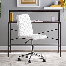 Montopolis Desk Chair Mercury Row Upholstery: White