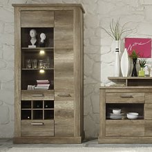 Montreal Display Cabinet In Monument Canyon Oak
