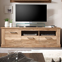 Montreal Lowboard TV Stand In Walnut Satin With 2