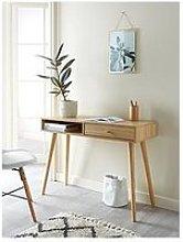 Monty 1 Drawer Desk - Oak