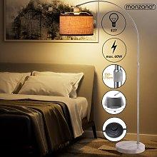 Monzana Design Arc Lamp Height 133-180 cm Fabric