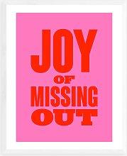 mOOd - 'Joy Of Missing Out' Framed Print,