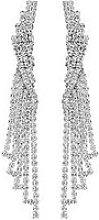 Mood Silver Plated Crystal Chandelier Drop Earrings