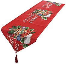 mookaitedecor Christmas Table Runner Red,Jingle