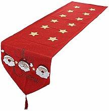 mookaitedecor Christmas Table Runner Red,Stars