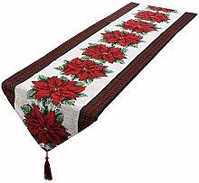mookaitedecor Christmas Table Runner White,Red