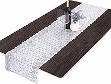 mookaitedecor Lace Table Runner White for Wedding