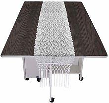 mookaitedecor Vintage Lace Table Runner White for