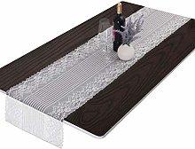 mookaitedecor White Lace Table Runner for Wedding