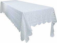 mookaitedecor White Large Tablecloth
