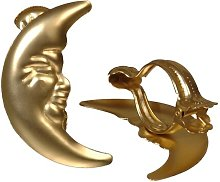 Moon Curtain Hooks Symple Stuff Colour: Gold