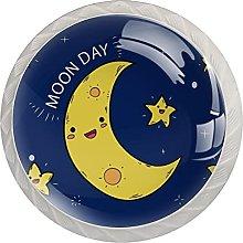 Moon Day, Modern Minimalist Printing Cupboard