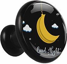 Moon Gold Night 4 Piece Kitchen Black Knobs