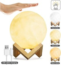 Moon Lamp with Touch Brightness Control 5.9cm 3D
