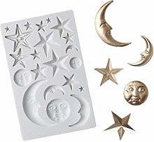 Moon Stars Sun Face Silicone Mold Gummy Mold
