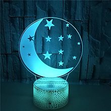 Moon Visual Atmosphere Decor Lamp, 7 Colors