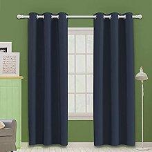 MOOORE Bedroom Blackout Curtains, Eyelet Ring Top