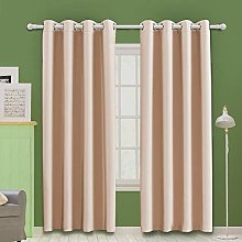 MOOORE Coral Pink Bedroom Blackout Curtains,