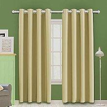 MOOORE Dark Beige Bedroom Blackout Curtains,