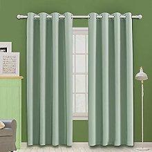 MOOORE Light Blue Bedroom Blackout Curtains,