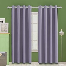 MOOORE Pale Purple Bedroom Blackout Curtains,