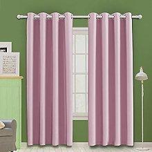 MOOORE Pink Bedroom Blackout Curtains, Eyelet Ring