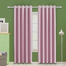 MOOORE Pink Bedroom Blackout Curtains, Thermal