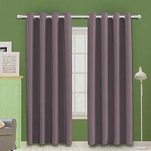 MOOORE Pink Lavender Bedroom Blackout Curtains,