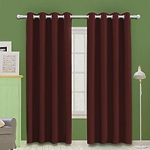 MOOORE Red Bedroom Blackout Curtains, Thermal