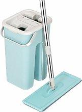 Mop Bucket Floor Cleaning Swivel Broom + 2 Pads