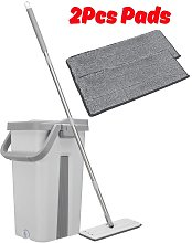 Mop bucket Self-cleaning drying Microfiber 2 Pad